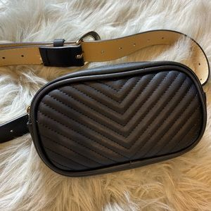 USED ONCE. Steve Madden Chevron Quilted Fanny Pack